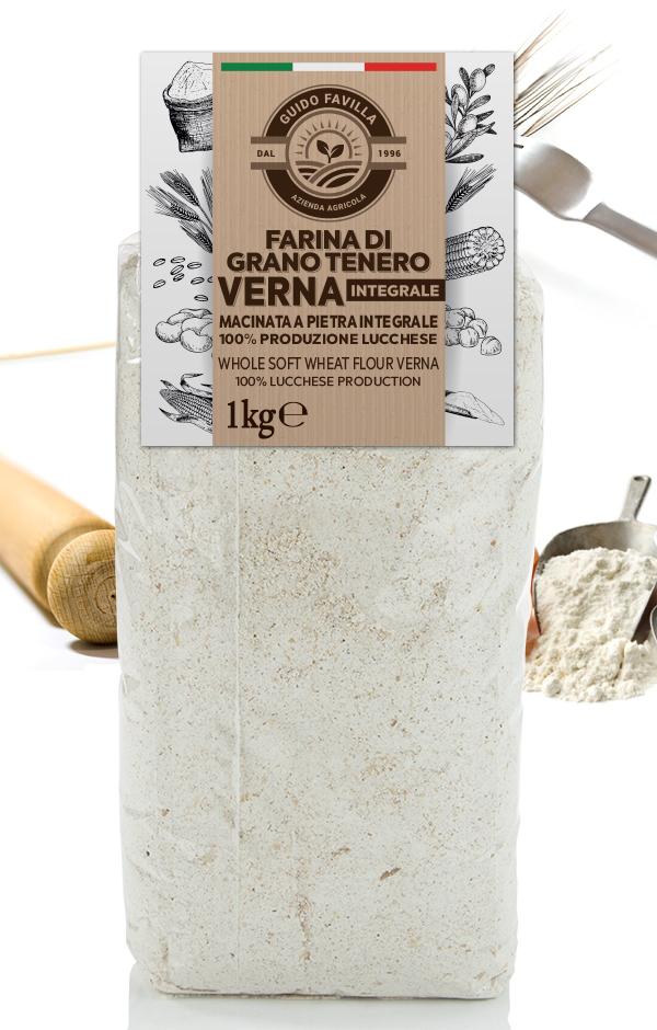 Farina grano tenero integrale Verna macinata a pietra